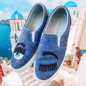 Chiara Ferragni Flirting slip-on denim sneakers